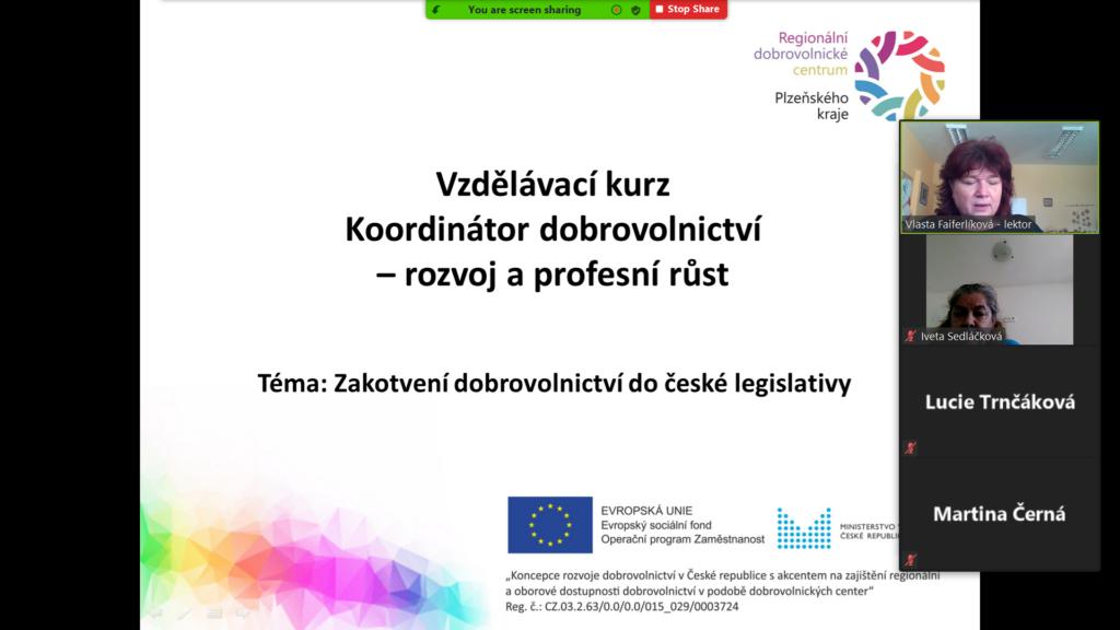 Druhý cyklus vzdělávání koordinátorů v Plzeňském kraji odstartoval v sobotu 6.3.2021